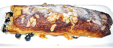 Apricot and almond roulade.