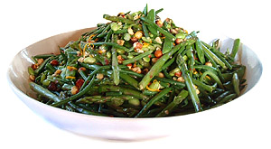 Green bean salad dish