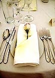 Linen, glass and cutlery service by Absolutely Delicious.